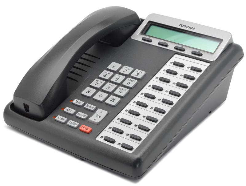 Listen for confirmation tone (two short beeps followed by dial tone). Toshiba Strata DKT3220-SD 20-Button Charcoal Display