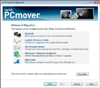 PCmover screenshot