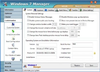 Windows 7 Manager Tweaks The OS To Your Liking | PCWorld