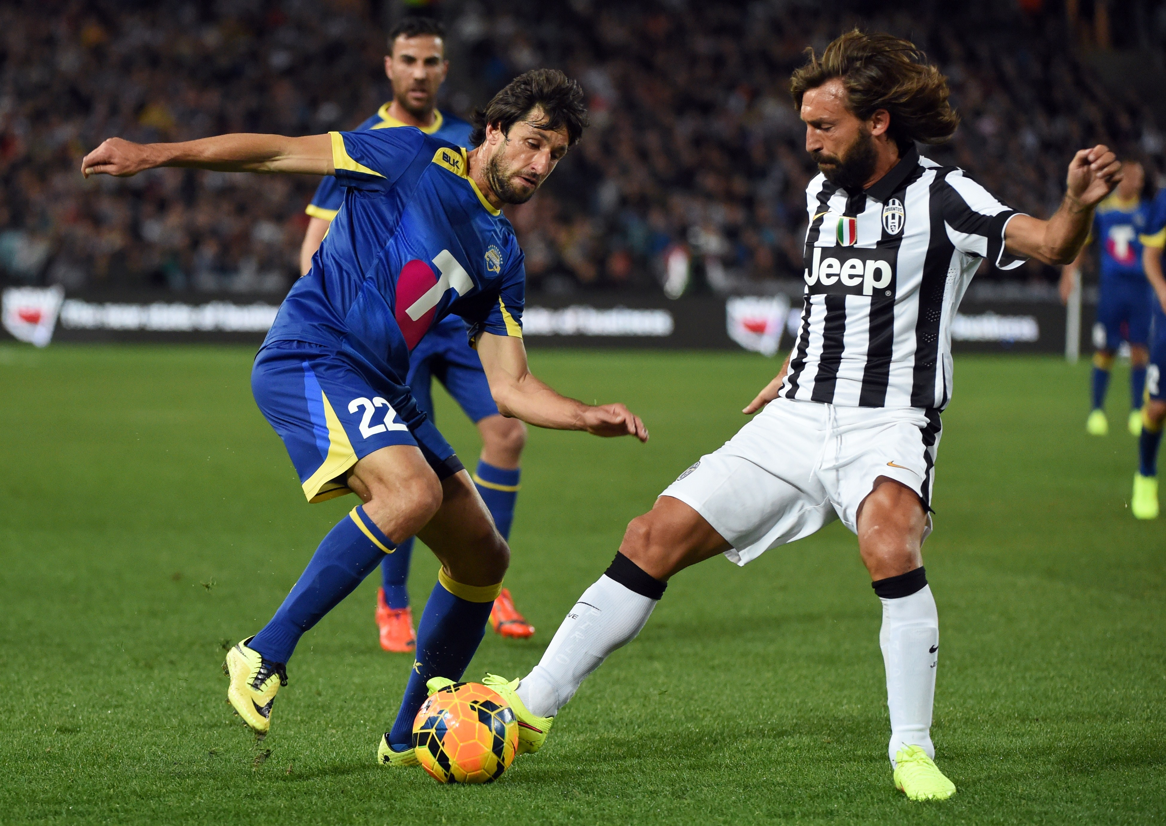 Taking on the might of Italian giants Juventus with the All Stars.