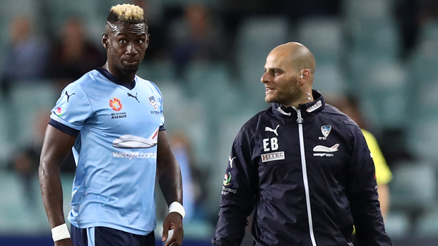 Sydney FC flyer Bernie Ibini is in doubt for Sunday's grand final against Melbourne Victory due to a hamstring injury.