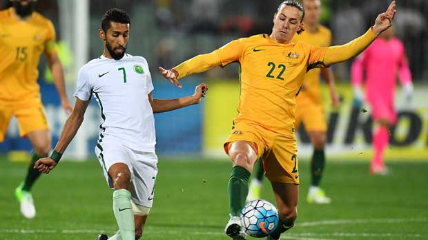 Jackson Irvine against Saudi Arabia