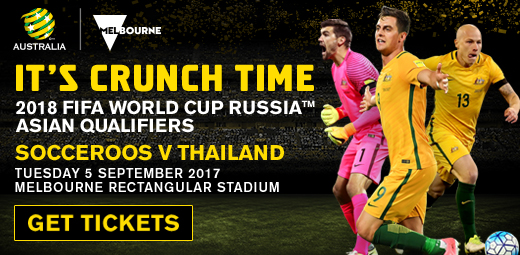 Caltex Socceroos v Thailand banner