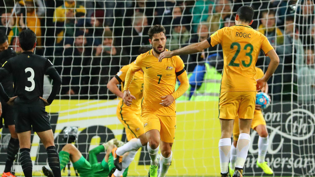 Australia defeated Thailand 2-1 in Melbourne on Tuesday night.