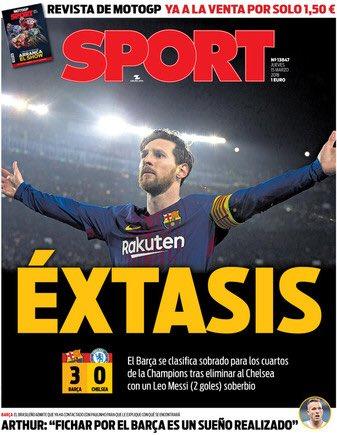 Une Sport Lionel Messi Barça-Chelsea