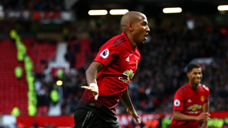 Ashley Young Manchester United Fulham