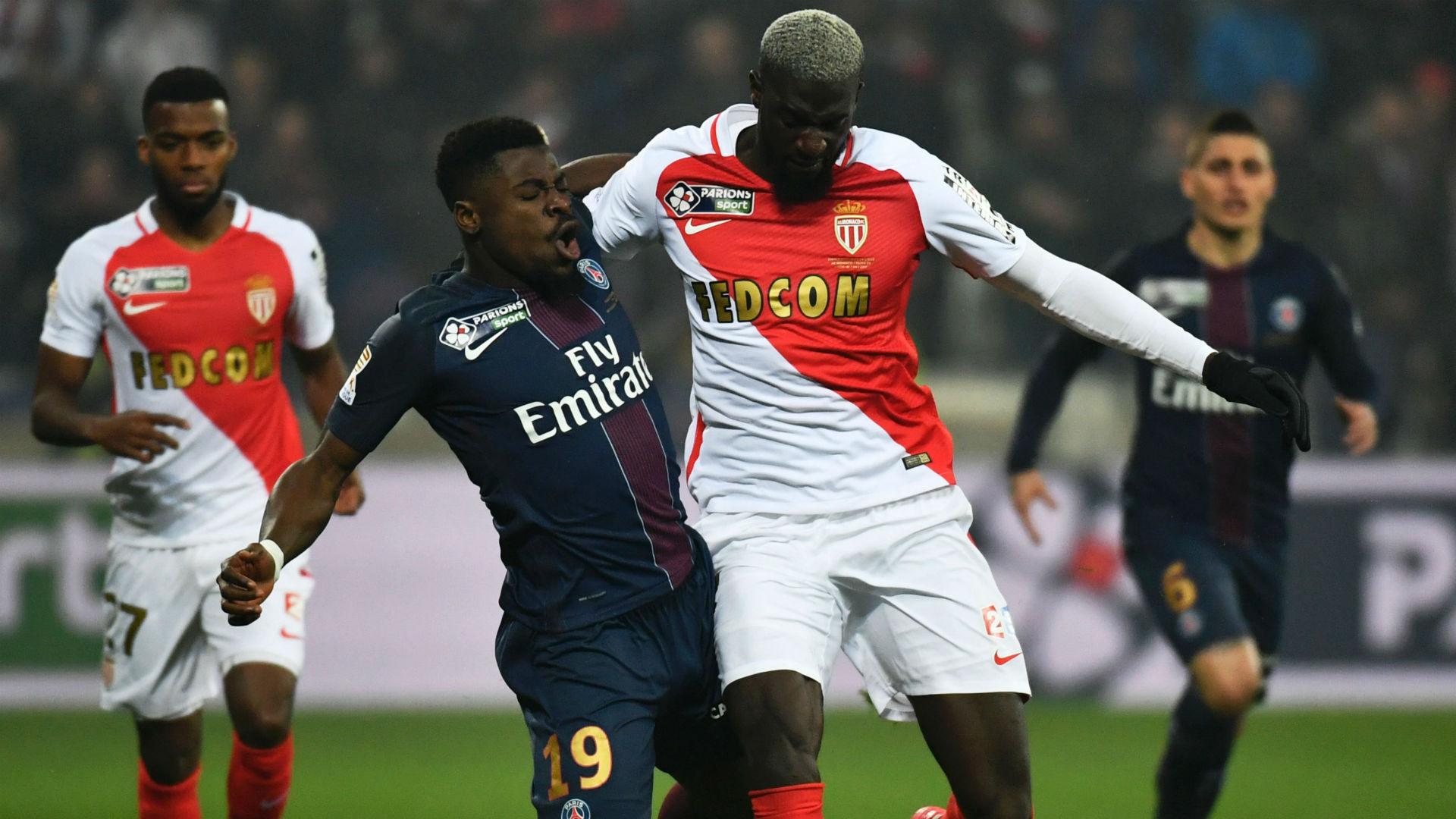 Tiemoue Bakayoko Serge Aurier PSG Monaco Coupe de la Ligue 01042017