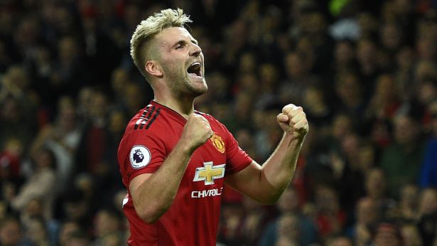 Image result for luke shaw manchester united
