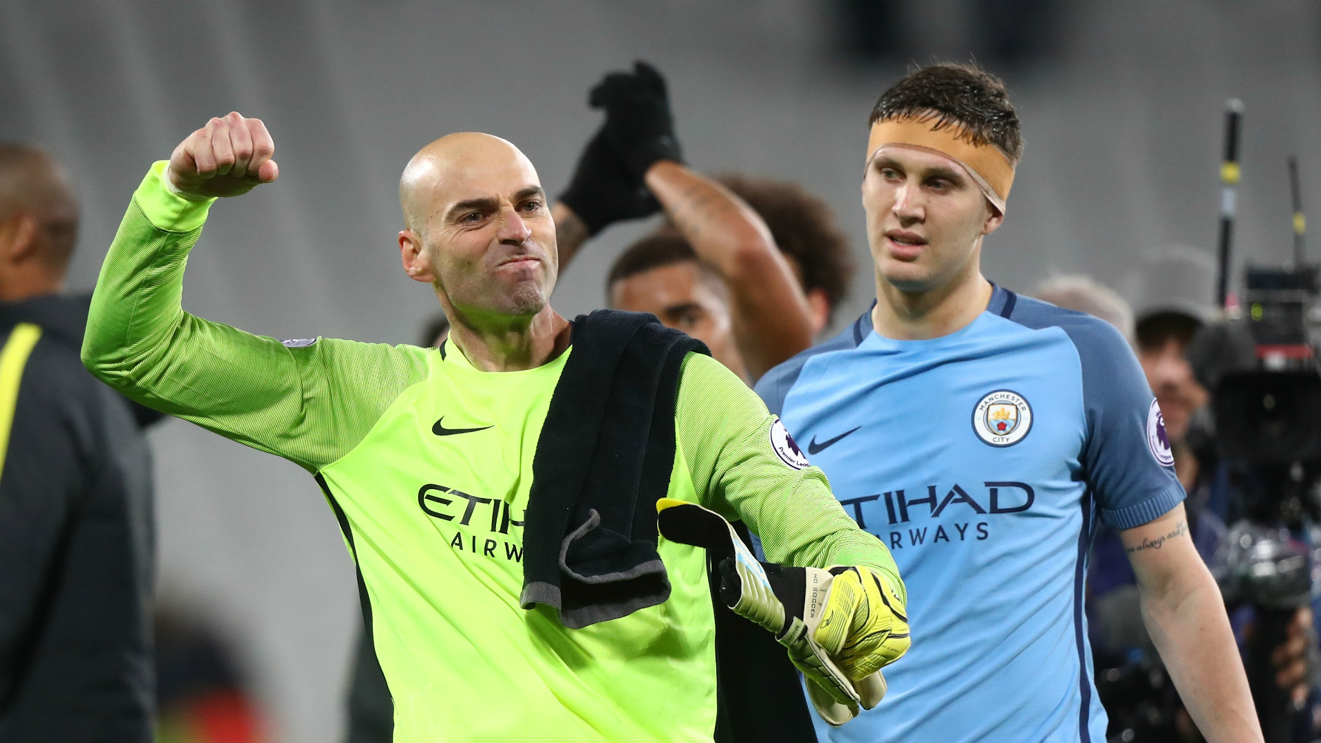 Willy Caballero John Stones Manchester City 01022017