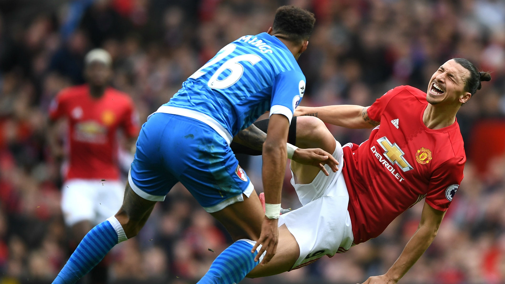 Zlatan Ibrahimovic Premier League Manchester United v Bournemouth