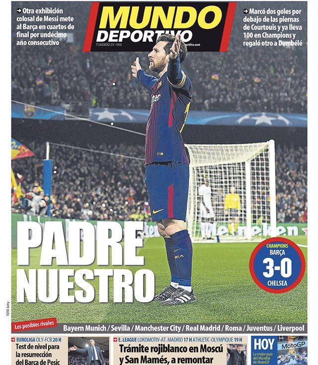 Une Mundo Deportivo Lionel Messi Barça-Chelsea