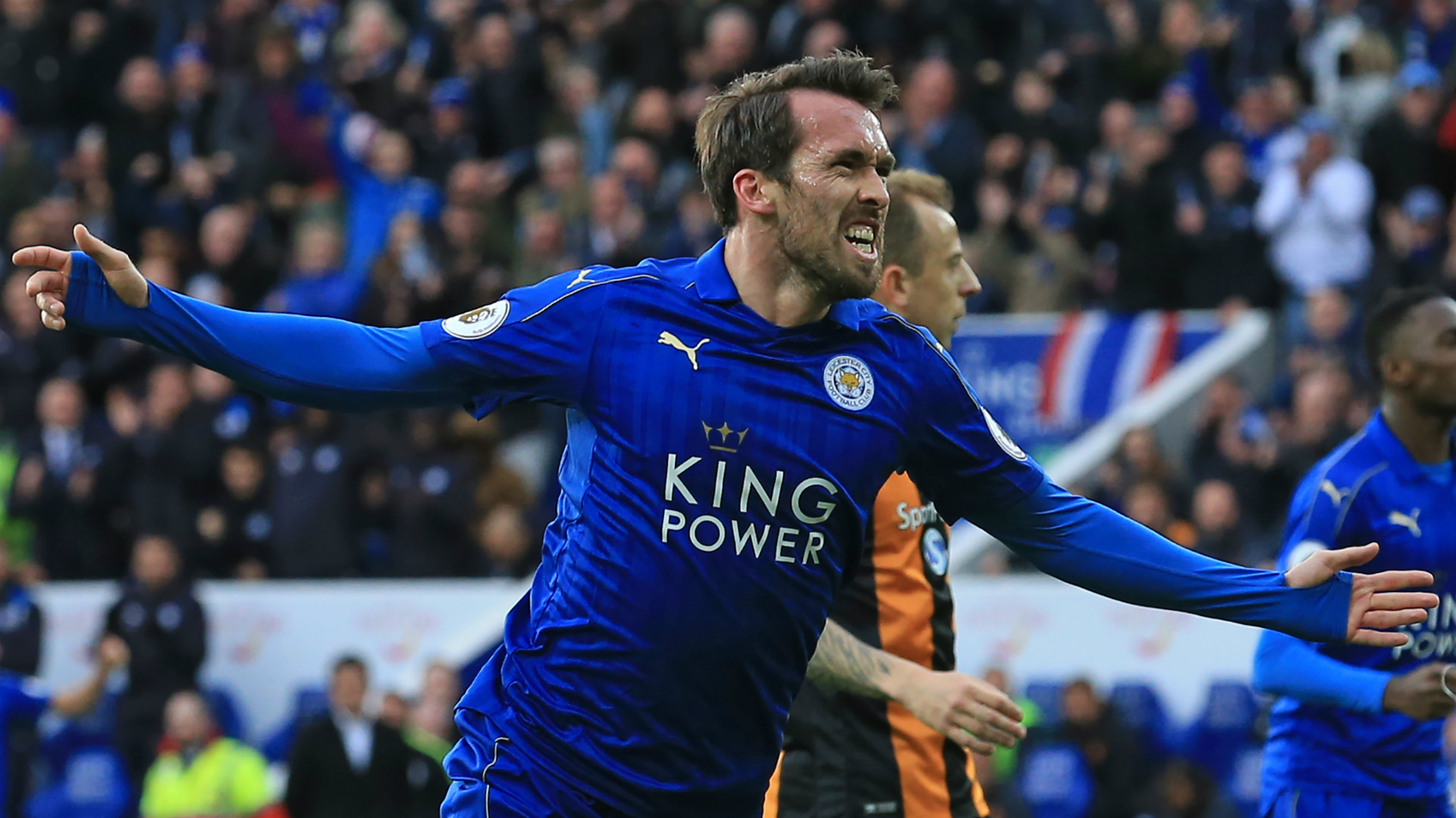 Christian Fuchs Leicester City Hull City 04032017