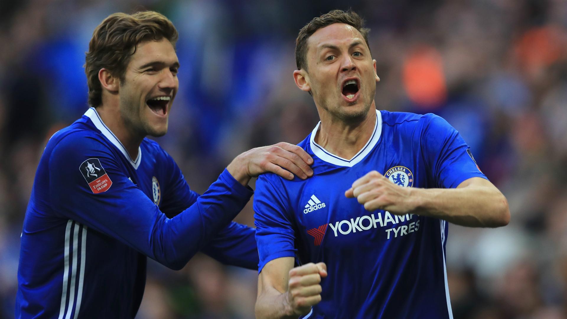 Marcos Alonso Nemanja Matic Chelsea 2017