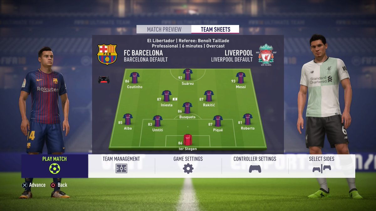 Philippe Coutinho For Barcelona On FIFA 18 Best Position