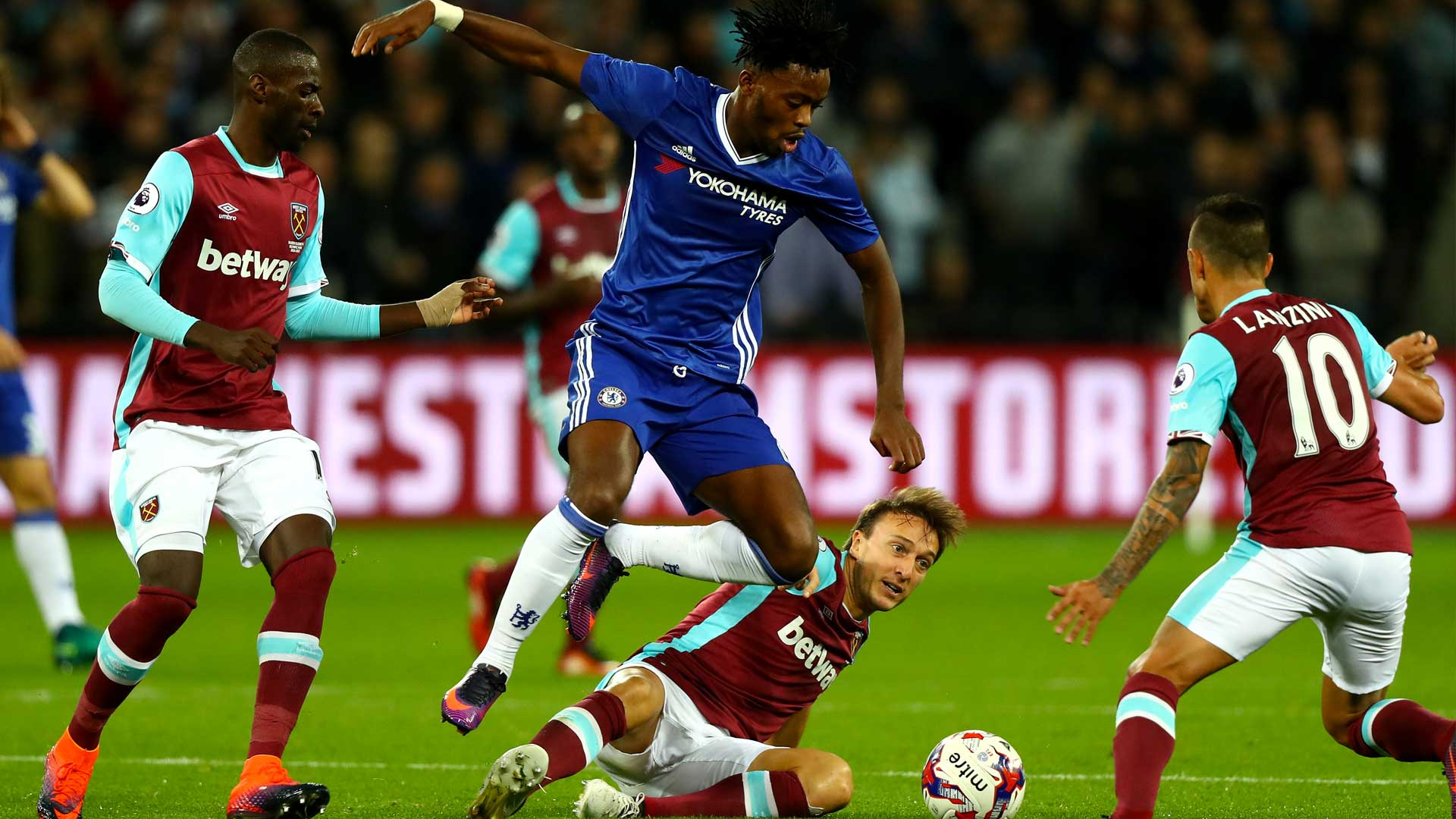 Image result for West Ham 2-1 Chelsea: Blues' League Cup adventure brought to a half by Bilic's men