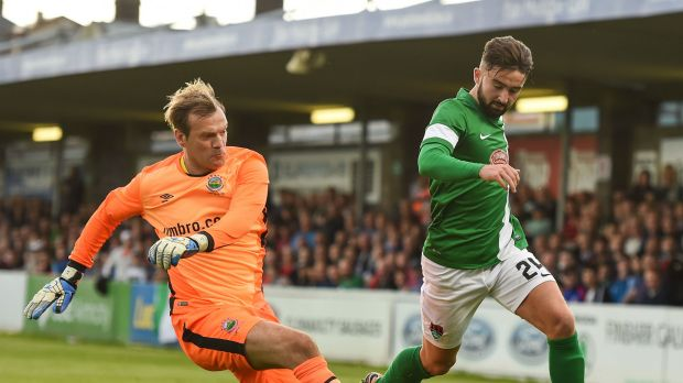 Roy Carroll Linfield Sean Maguire Cork City 07072016