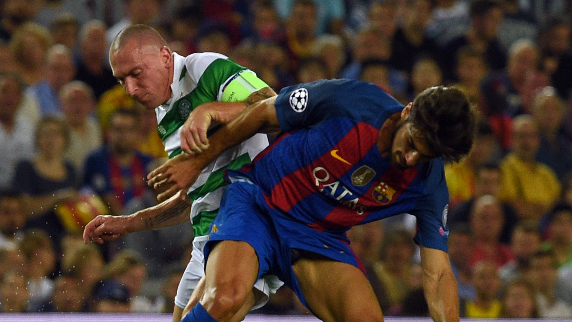Andre Gomes Scott Brown Barcelona Celtic Champions League