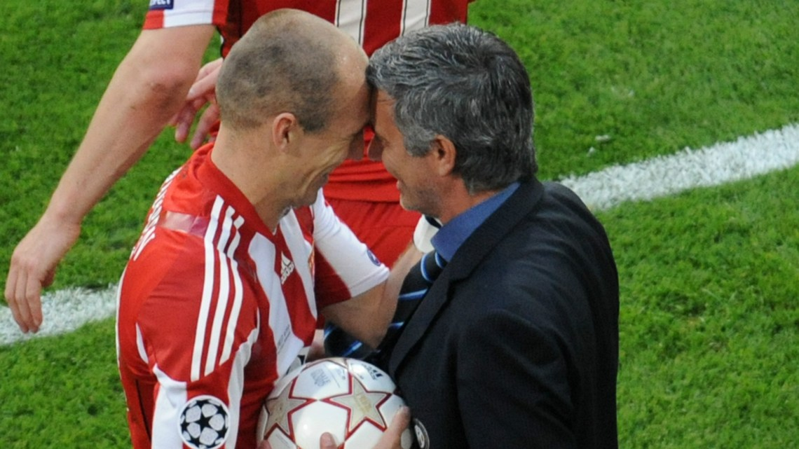 Image result for robben and mourinho