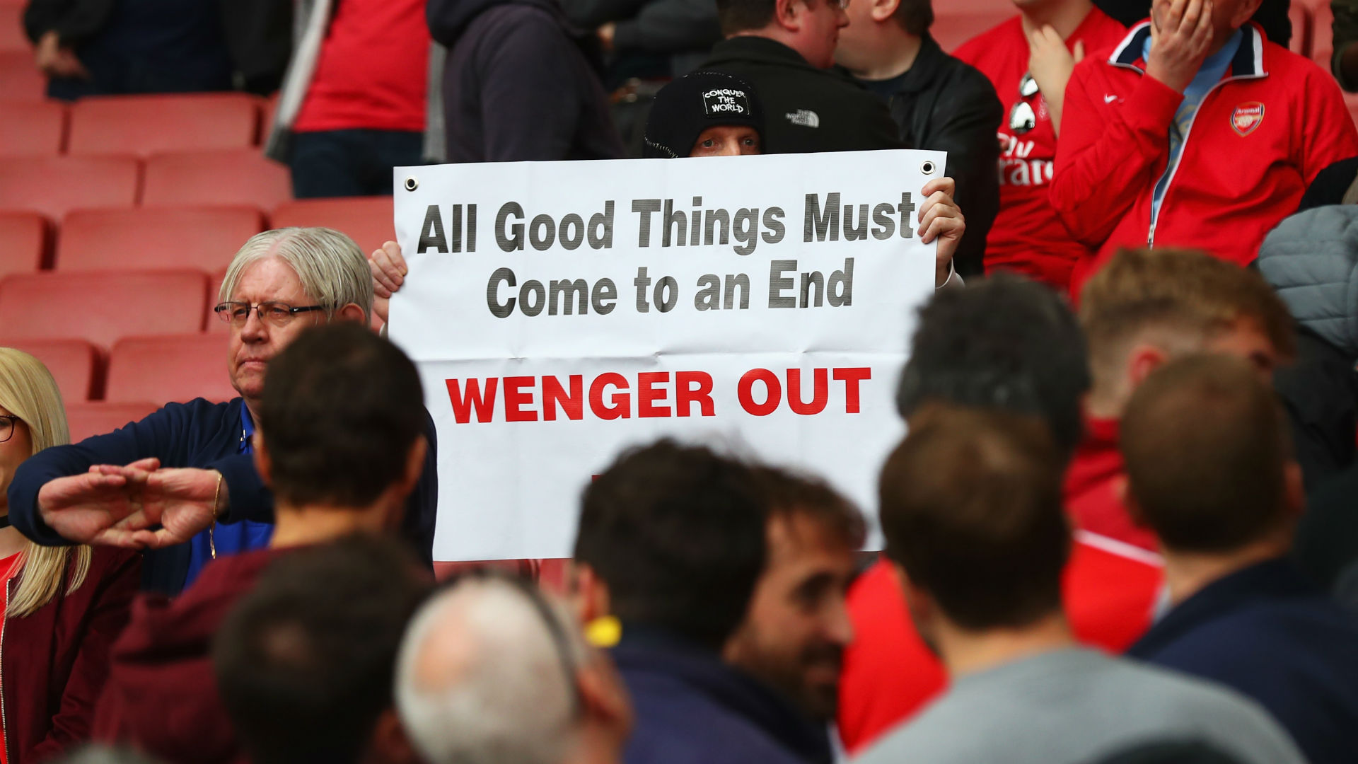 'Wenger Out' protest casts unhelpful light on Arsenal's trip to Spurs