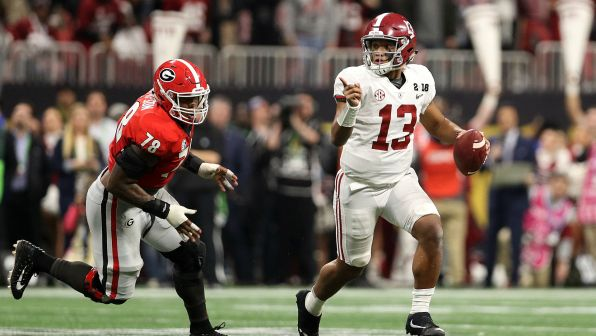 Image result for alabama tua wins the game