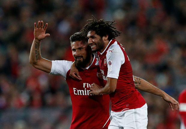 Olivier Giroud and Mohamed Elneny