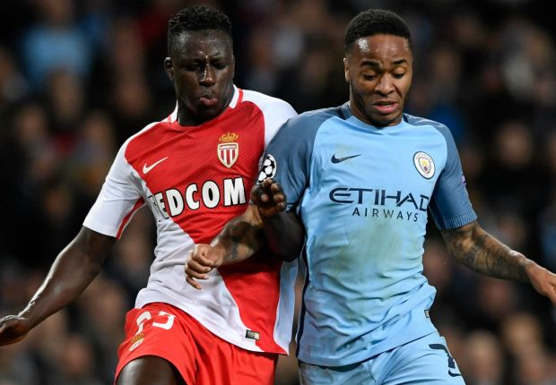 Benjamin Mendy playing for Monaco against Manchester City last season
