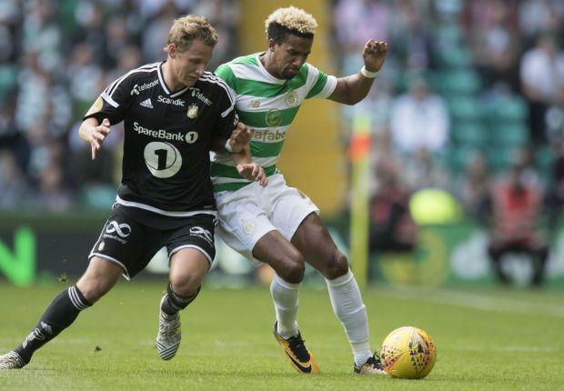Rosenborg's Vegar Hedenstad and Celtic's Scott Sinclair