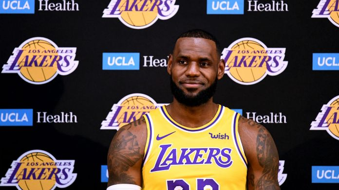 f377cdb84fca LeBron James will make his Lakers debut Sunday towards the Nuggets in San  Diego