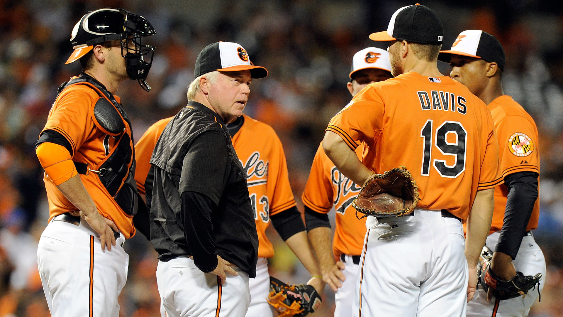 Buck Showalter, Orioles meet at the mound
