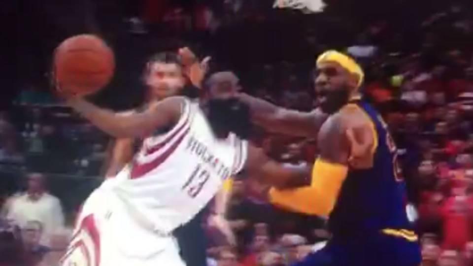 LeBron James gets away with stunning no-call | NBA ...