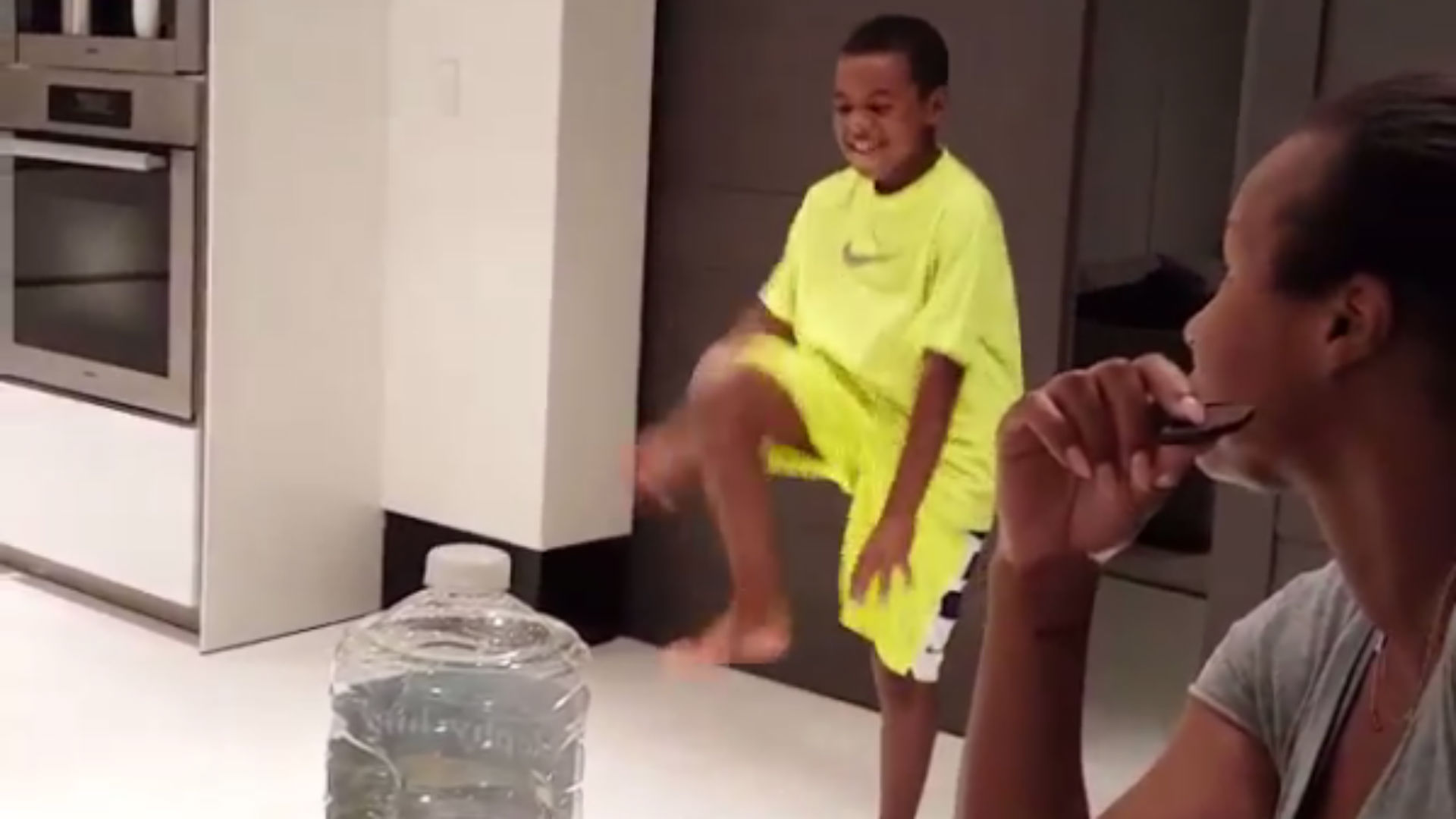 LeBron James' son Bryce has dad's 'Silencer' celebration ...