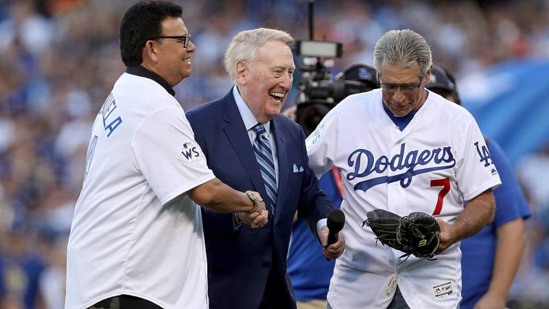 Image result for vin scully first pitch