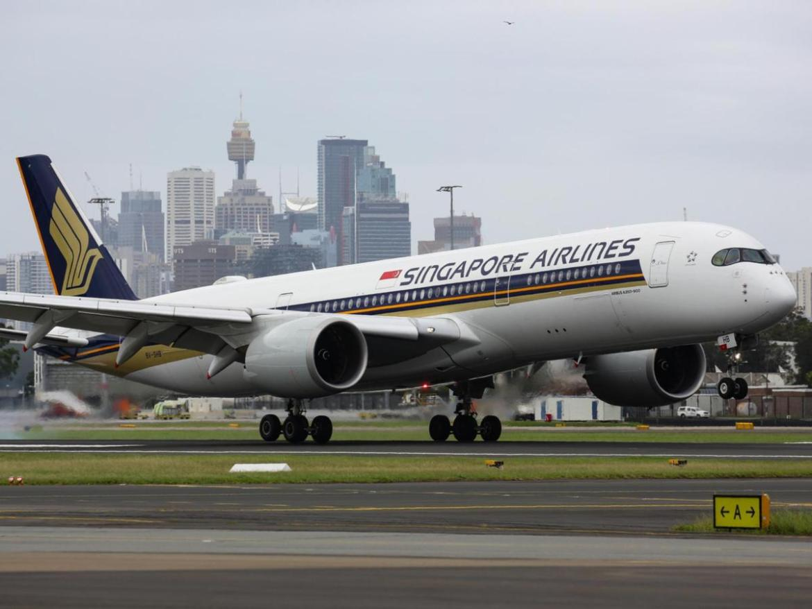Pfizer vaccine arrives into Sydney International Airport on a Singapore Airlines flight.