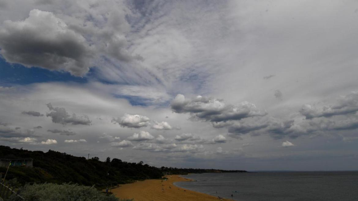 Clouds brewing on a muggy and still afternoon in Sandringham on Thursday.