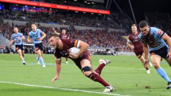 Kurt Capewell scored Queensland's sole try in Origin I. Picture: Adam Head