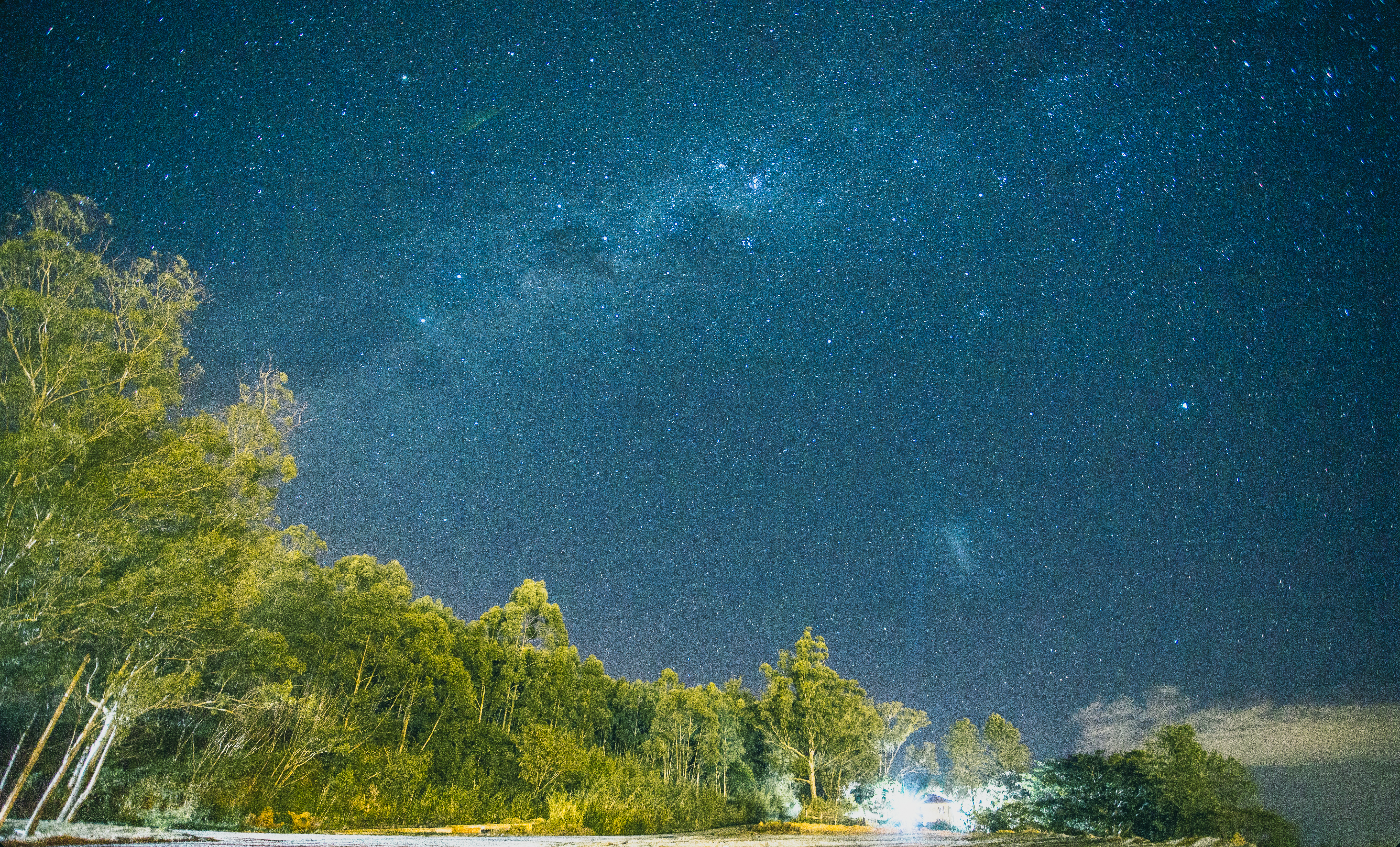 Scenic View Of Mountains Against Sky At Night 183 Free Stock