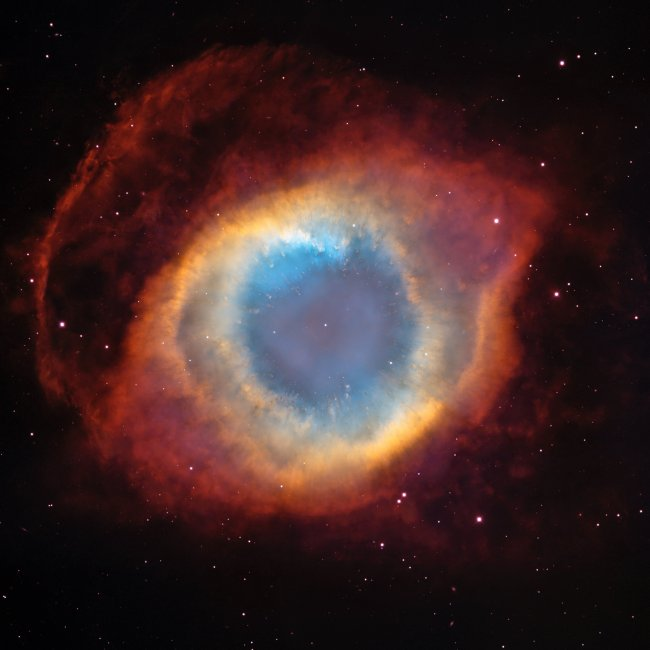 Blue Orange and Red Outer Space Photo