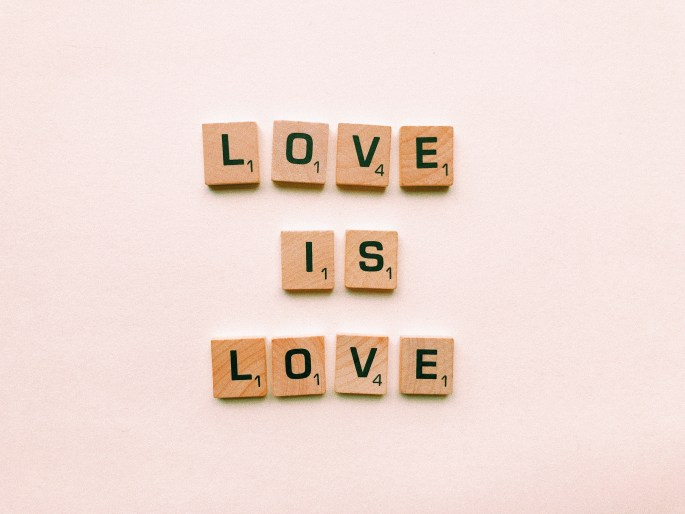 Brown Wooden Love Is Lover Decor