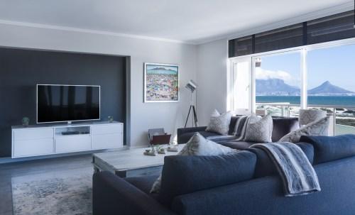 Dark color living room design
