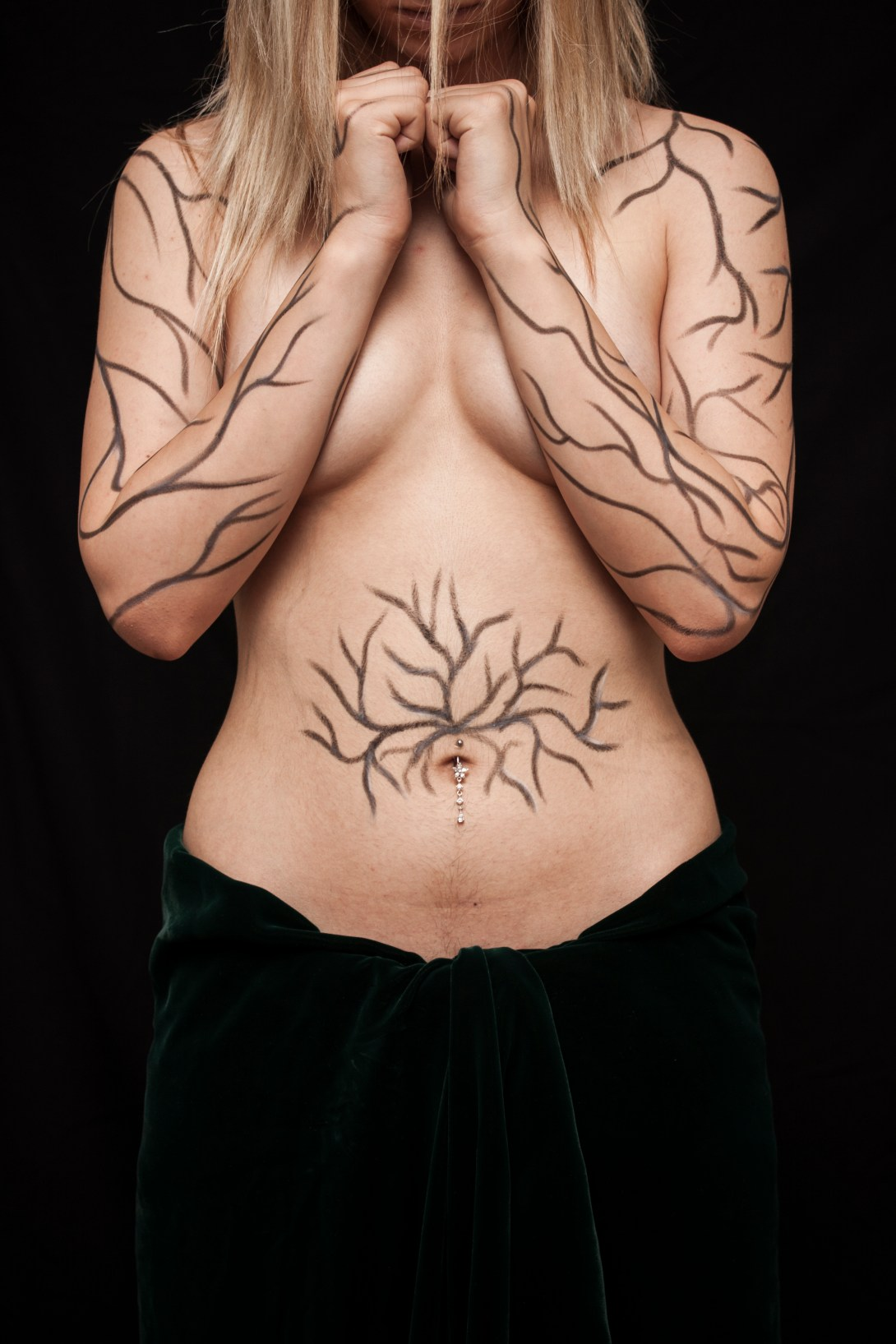 Topless Woman With Tattoo