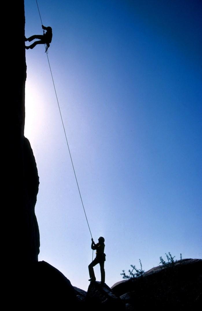 Mountain Climbing Silhouette