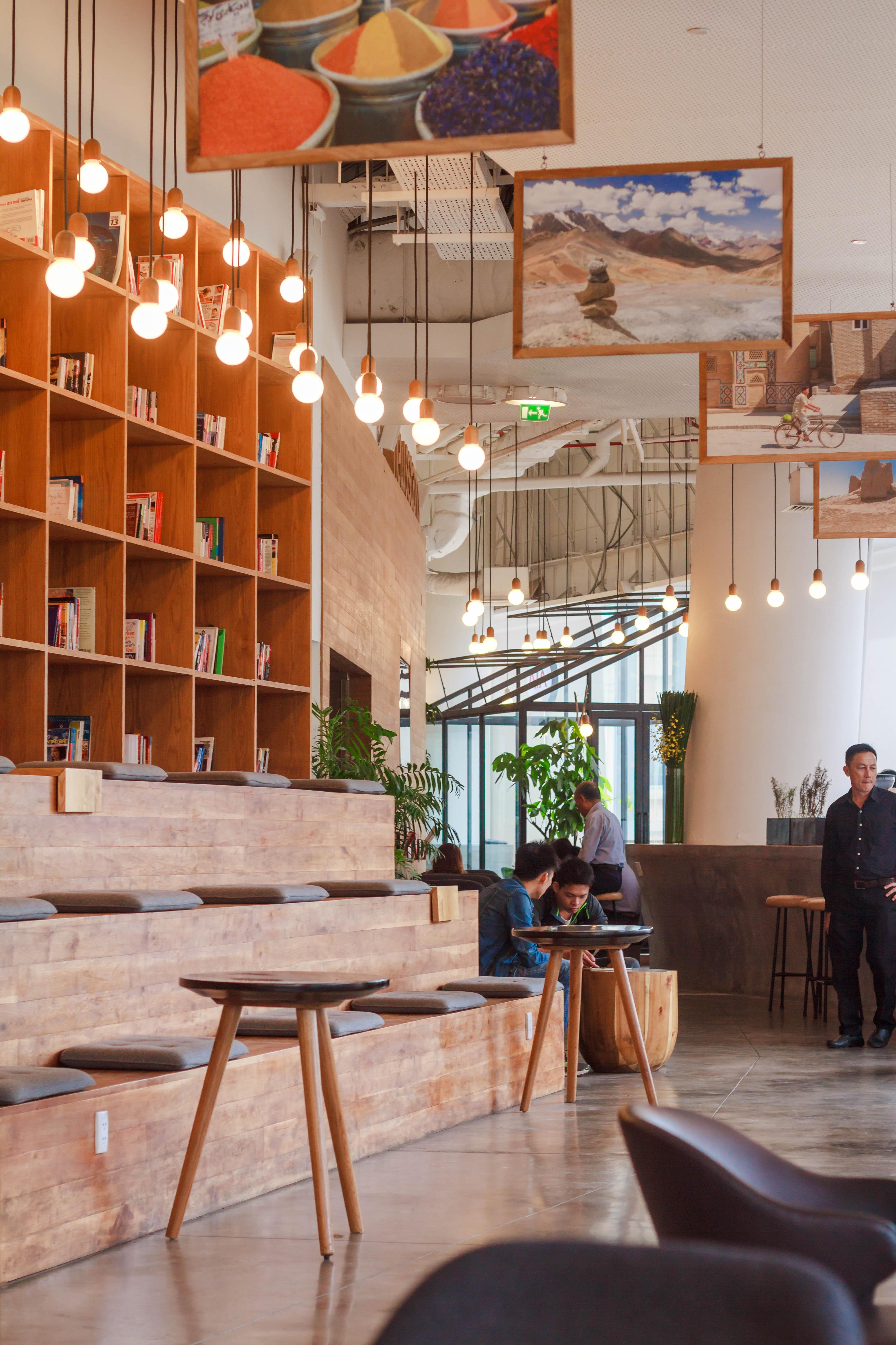 Interior Of The Restaurant Free Stock Photo
