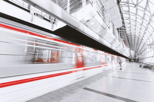 Blurred Motion of Fast Trains