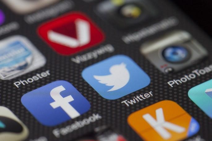 Iphone Displaying Social Media Application