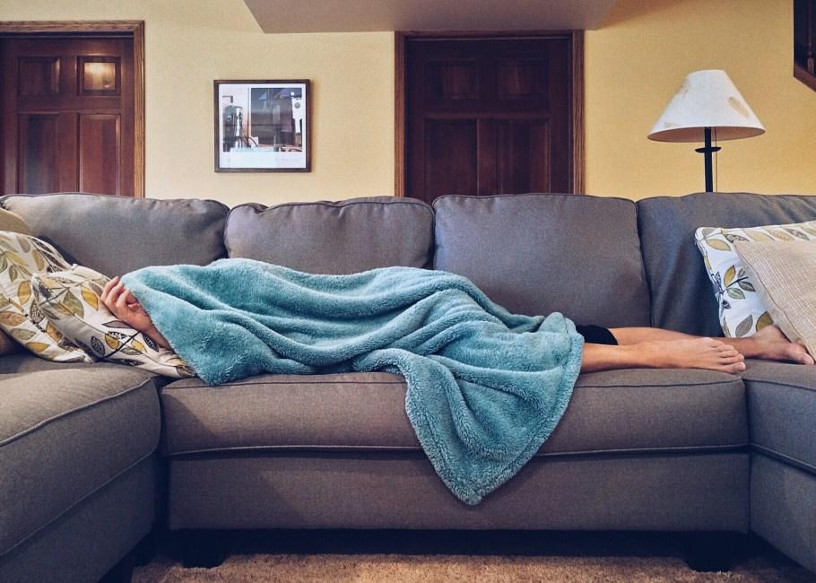 Person Lying On Sofa 183 Free Stock Photo