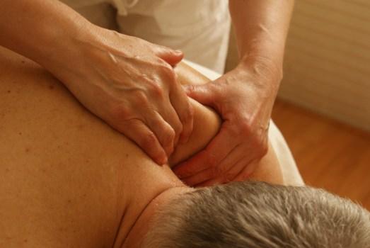 Enjoying a robust Turkish massage