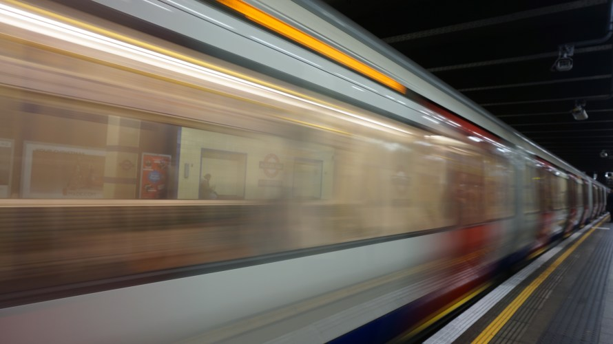 Public Transport: a blurred, moving train