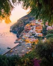 colorful cliffside village