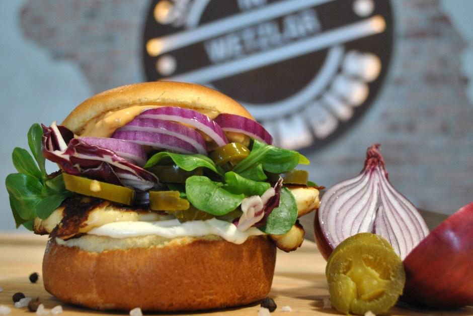 Close-up of Healthy Burger