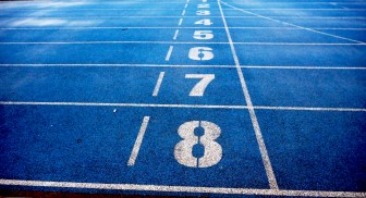 athletics, blue, ground
